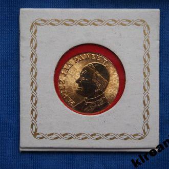 Медаль Папа Римский Иоан Павел II 1979 г + буклет