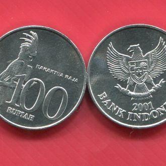 Индонезия 100 рупий UNC Попугай