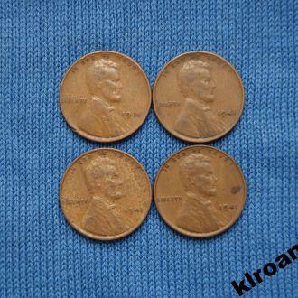 США 1 цент 1941 г