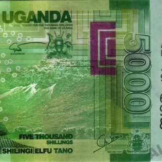 Уганда 5000 шиллингов 2010 г. в UNC из пачки