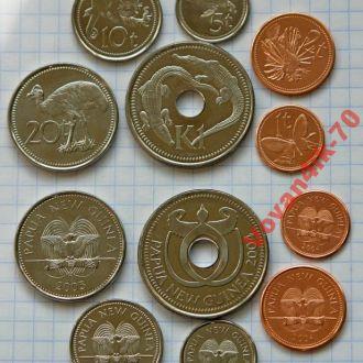 ПАПУА- НОВАЯ ГВИНЕЯ  набор монет 6 сет