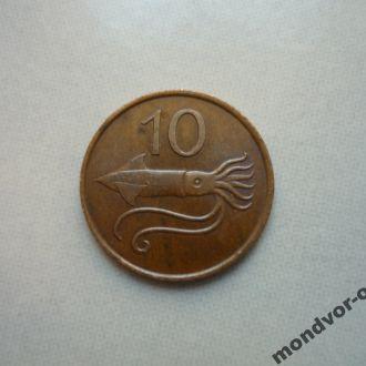 Исландия 10 эйре 1981 фауна