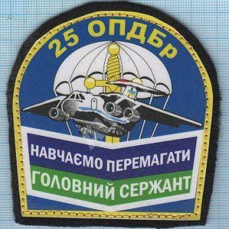 Шеврон ВДВ Украины Аэромобильные войска Десант Спецназ 25 ОВДБр Главный сержант Авиация ЗСУ.
