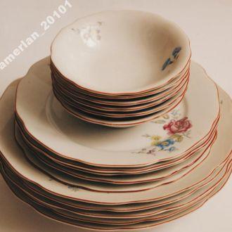 Тарелки с цветами. НС. Чехословакия (16 штук).СССР