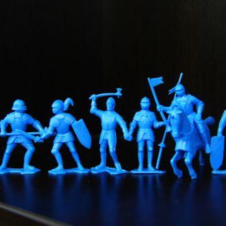 """рыцари""""MARX"""" 54мм (голубого цвета)"""