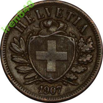 Швейцарія 2 rappen 1907