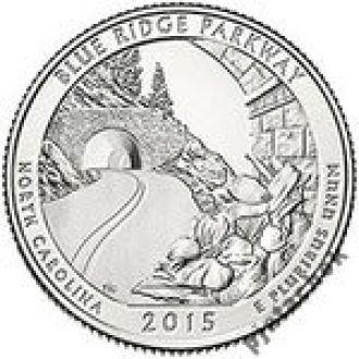 25 центов США Автомагистраль Блу-Ридж  2015 г.