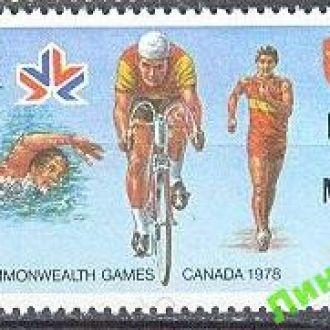 О-в Мэн 1978 спорт велосипед л/а ** о