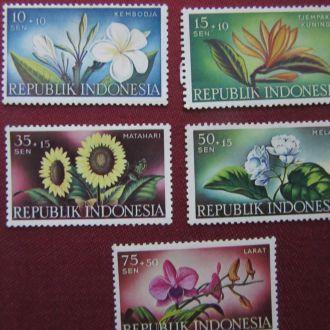 1957г.ИНДОНЕЗИЯ.цветы