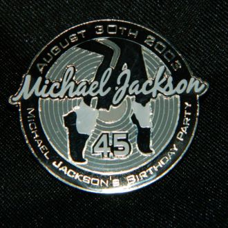 Редкий Значок Michael Jacksons 45th Birthday Party
