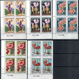 Габон 1969 флора цветы  MNH