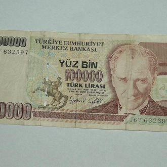 Турция 100000 лир 1970 год