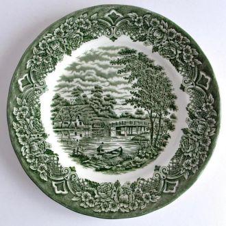 Тарелка антикварн Homeland №3 ручн/роспись Англия