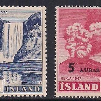 ИСЛАНДИЯ 1954/56 MH/MNH