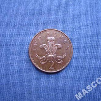 Великобритания 2 пенса 2002г