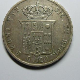 Италия Сицилия 120 грана 1857 г Сохран!!!