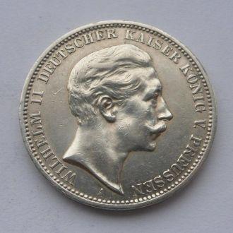 Германия Пруссия 3 марки 1908 г