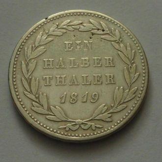 Германия Гессен 1/2 талера 1819 г