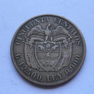 Колумбия 50 сентаво 1921 г