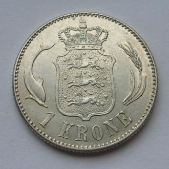 Дания 1 крона 1915 г аUNC