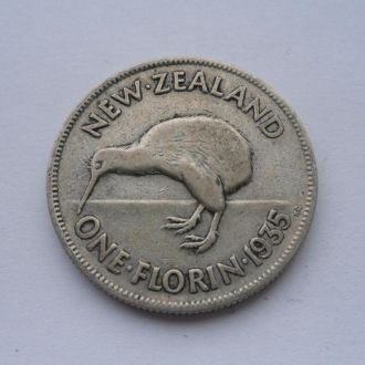 Новая Зеландия 1 флорин 1935 г серебро