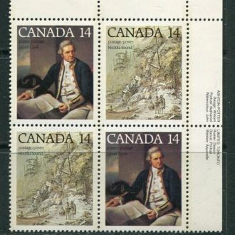 Канада 1978 год Серия Квартблок ** Корабли Кук