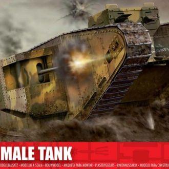 Британский танк WWI Mk I  Male  - Airfix1315