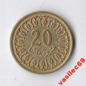 Тунис 20 миллим-разные года
