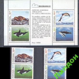 Португалия 1983 морская фауна рыбы киты ** о