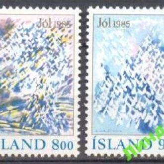 Исландия 1985 Рождество религия живопись **