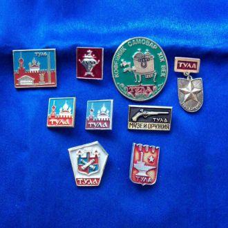 Значки геральдика герб город Тула 9 значков