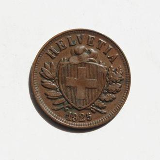 Швейцария 2 раппена 1925 г. СОСТОЯНИЕ