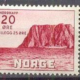 Норвегия 1949 природа горы Нордкап **