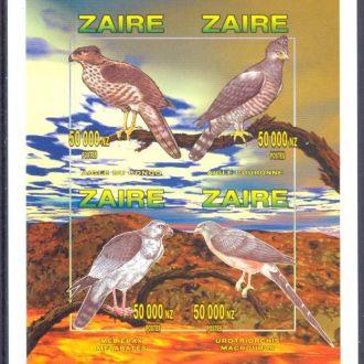 Заир 1996 без/зуб птицы фауна ** о