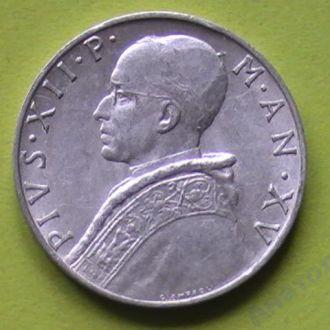 монета Ватикан 10 Лир 1953 г