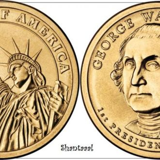 Shantaaal, США 1 доллар 2007, 1-й президент Джордж Вашигтон