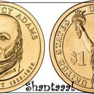 Shantaaal, США 1 доллар 2008, 6 президент Джон Куинси Адамс (1825-1829)