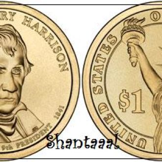 Shantaaal, США 1 доллар 2009, 9 президент Уильям Гаррисон (1841)