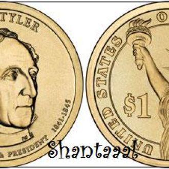 Shantaaal, США 1 доллар 2009, 10 президент Джон Тайлер (1841-1845)