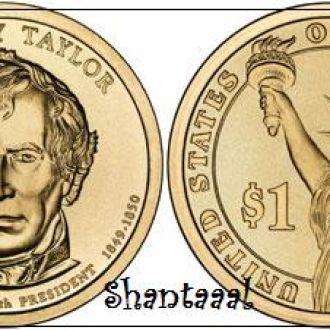Shantaaal, США 1 доллар 2009, 12 президент Закари Тейлор (1849-1850)