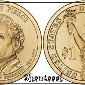 Shantaaal, США 1 доллар 2010, 14 президент Франклин Пирс (1853-1857)