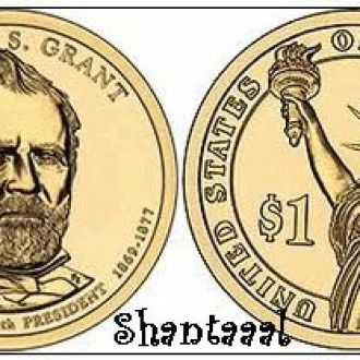 Shantaaal, США 1 доллар 2011, 18 президент Улисс Грант (1869-1877)