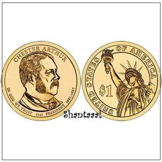 Shantaaal, США 1 доллар 2012, 21 президент Честер Артур (1881-1885)