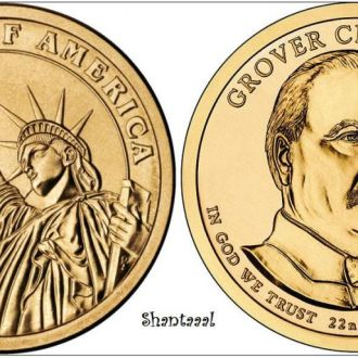 Shantaaal, США 1 доллар 2012, 22 президент Гровер Кливленд (1885-1889)