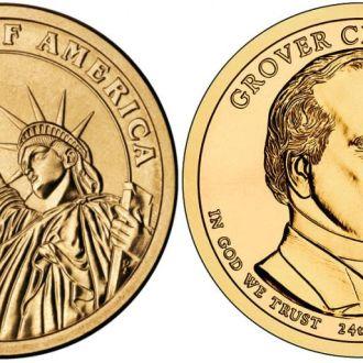 Shantaaal, США 1 доллар 2012, 24 президент Гровер Кливленд (1893-1897)