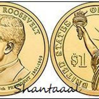 Shantaааl, США 1 доллар 2013, 26 президент Теодор Рузвельт (1901-1909)