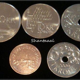 Shantааal, Набор Норвегия из 5 монет UNC
