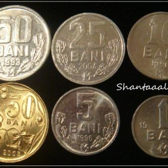 Shantааal, Молдавия Набор из 6 монет UNC
