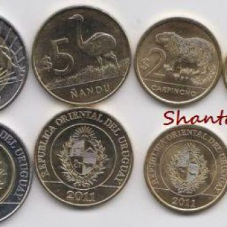 Shantaaal, Уругвай набор 4 монеты 2011/2012