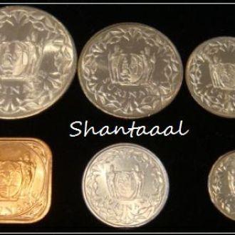 Shantааal, Суринам Набор из 6 монет UNC